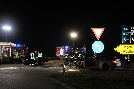 POL-UN: Schwerte – 6 Verletzte bei Verkehrsunfall