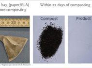 Praxistest: Kompostierbare Kunststoffe zersetzen sich bei der industriellen Kompostierung in weniger als 22 Tagen
