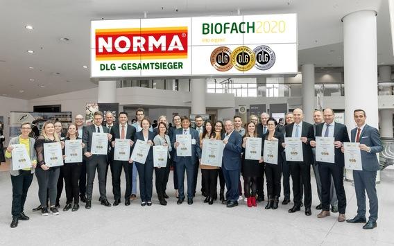 NORMA: Zum elften Mal in Folge DLG-Bio-Gesamtsieger und damit bester Biohändler 2020 / Lebensmittel-Discounter aus Nürnberg erneut an der Spitze bei der DLG
