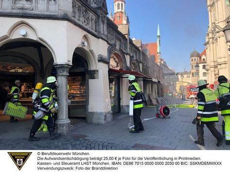 FW-M: Brand in Metzgerei (Altstadt-Lehel)