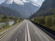So leer ist die Gotthard-Autobahn