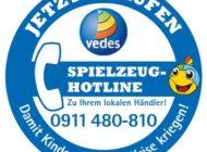VEDES Spielzeug-Hotline - die Nummer für ganz Deutschland