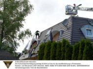 FW-M: Dachstuhlbrand in Mehrfamilienhaus (Perlach)