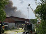POL-STD: Feuer auf Harsefelder Recyclinggelände richtet hohen Sachschaden an