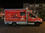 POL-KS: Rettungswagen während Einsatz mit Graffiti besprüht: Zeugen gesucht