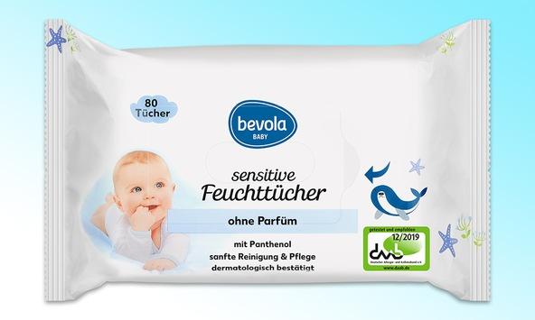 """Öko-Test bewertet bevola sensitive Baby-Feuchttücher von Kaufland mit """"sehr gut"""""""