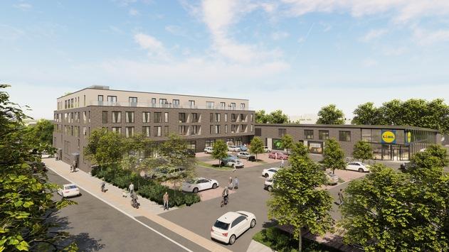 Urbane Nachverdichtung: Lidl baut Wohn- und Geschäftshaus neben bestehender Filiale