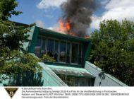 FW-M: Dachstuhlbrand in Kindertagesstätte (Hadern)