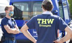 THW Bayern: Das THW baut Corona-Teststelle zurück.