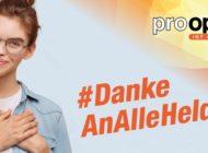 #DankeAnAlleHelden - pro optik schenkt allen Alltagshelden 120-Euro-VIP-Karte