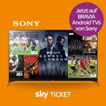 Sony Bravia Sky Ticket App