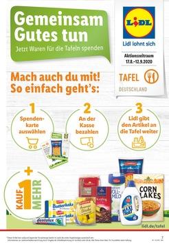 """Zweite digitale """"Kauf-1-mehr""""-Aktion bei Lidl für die Tafeln / Dringend benötigte Produkte in Form von Spendenkarten kaufen und einfach an der Kasse spenden"""