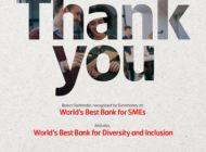 """Zweifach ausgezeichnet: Santander beste Bank für """"Diversity & Inclusion"""" und """"kleine und mittelständische Unternehmen"""""""