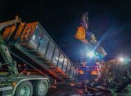 THW Bayern: Unterstützung bei Bergungsarbeiten nach Verkehrsunfällen auf der BAB3