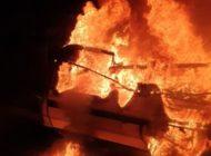 FW-DO: Wohnwagen brennt lichterloh