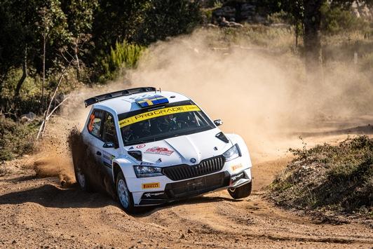 Rallye Italien Sardinien: SKODA Privatier Tidemand gewinnt WRC2 und baut Tabellenführung aus