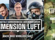 """""""Dimension Luft"""" - Die erste virtuelle Karrieremesse der Bundeswehr rund ums Fliegen"""
