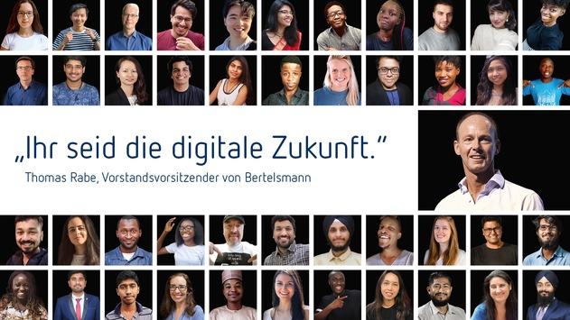 Zehntausende aus aller Welt bewerben sich um Tech-Stipendien der Bertelsmann-Digitalinitiative #50000Chancen