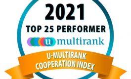 MCI erneut weltweit Top 25 im U-Multirank