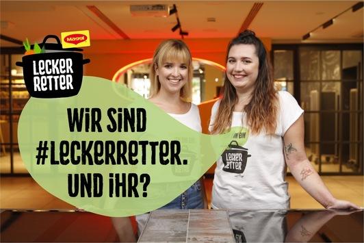 Lecker Retter – lieber Topf statt Tonne: Zusammen mit Maggi gegen Lebensmittelverschwendung